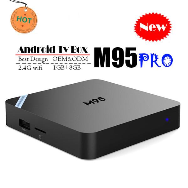 Orijinal Android 7.1 TV Kutusu M95 PRO Quad Core 1 GB 8 GB 4 K H.265 1080 P Video Streaming Android TV Kutuları Daha MXQ PRO RK3229 TX3 X96 H96