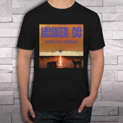 Husker Du Yeni Gün Yükselen Punk Rock Band erkek Siyah t-shirt gömlek tee S-2XL