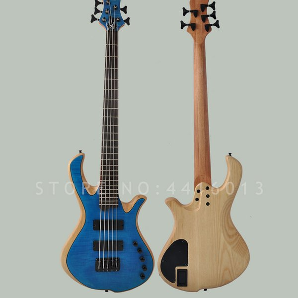 Top quality factory custom Mayones bass 5 strings electric bass guitar with ash body mahogany neck flamed maple musical instrument shop