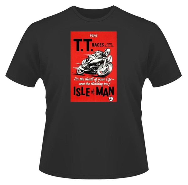 Mens T-Shirt, Vintage Race Poster, Ideal Gift or Birthday Present New T Shirts Funny Tops Tee New Unisex Funny Tops