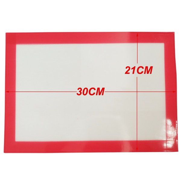 FDA approved Food grade 30.2X21CM non-stick slick oil silicone mat dab bho wax mat with silicone and fibreglass construction Custom pink Mat