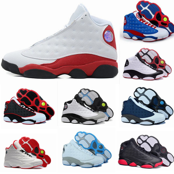 quality 13 XIII 13s Mans Women Basketball Shoes Bred Navy Game hologram grey toe Flint Grey Athletics Sport Sneaker Boots shoes for sale