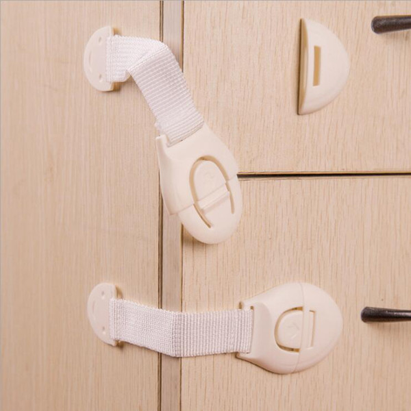 top popular Kids Drawer Lock Baby Safety Lock Adhesive Door Cupboard Cabinet Fridge Drawer Safety Locks Safety Locks Straps OOA4517 2020