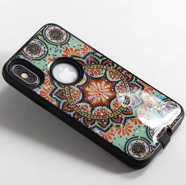 iPhone 11 Maksimum 6 Pro 7 8 Artı Xs Max XR X 5G 6G 7G Çift Koruyucu Encloser Baskılı Resim İçin Epoksi Parlak Telefon Kılıfı ışıltılı
