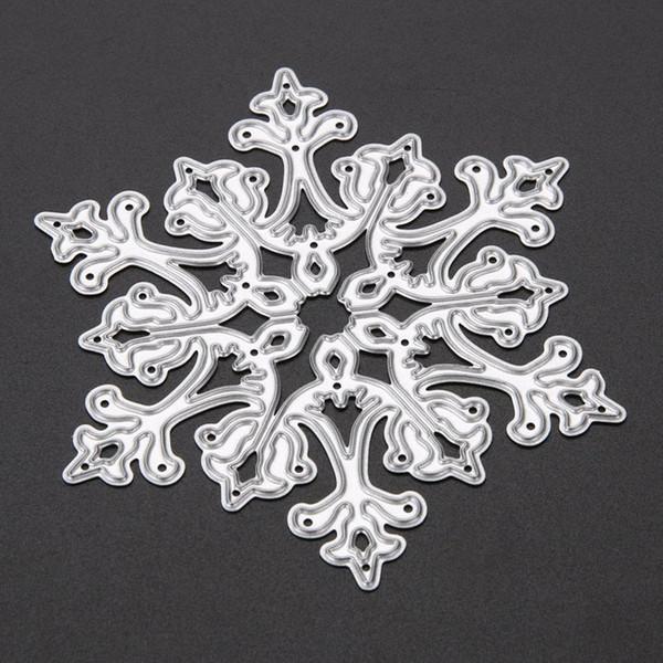 4pcs//set DIY Christmas Snowflake Cutting Dies Metal Cutter Stencils Embossing