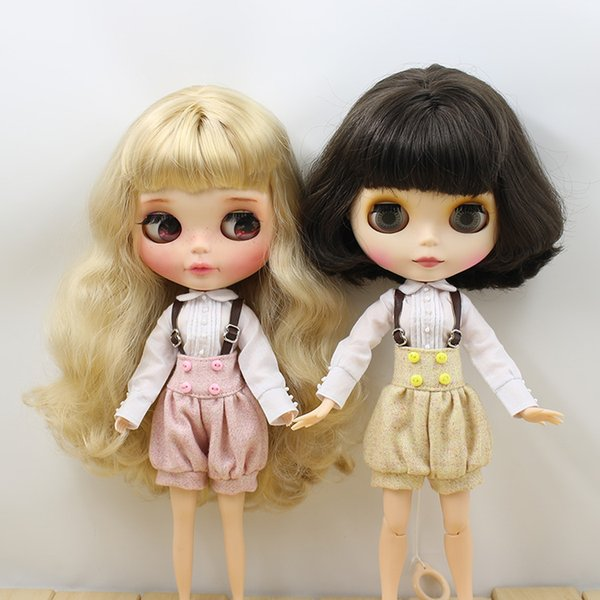factory blythe Outfits Blyth doll A set Clothes with Overrals for the JOINT body cute dressing Factory Blyth