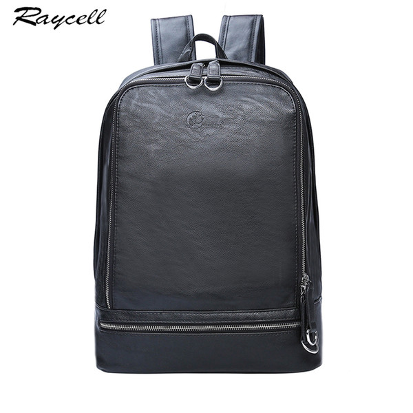 Genuine Leather Men Backpack Brand Design Waterproof 15.6 Inch Laptop Men Business Backpacks For High Quality Casual Bag