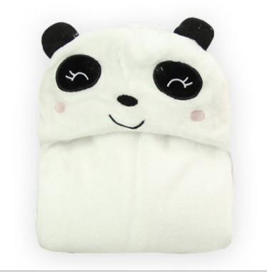 Carton Children Cloak Baby Flannel Cloak Infants Blanket with Hat Soft Cute kida Blanket Coral Fleece Baby Quilt