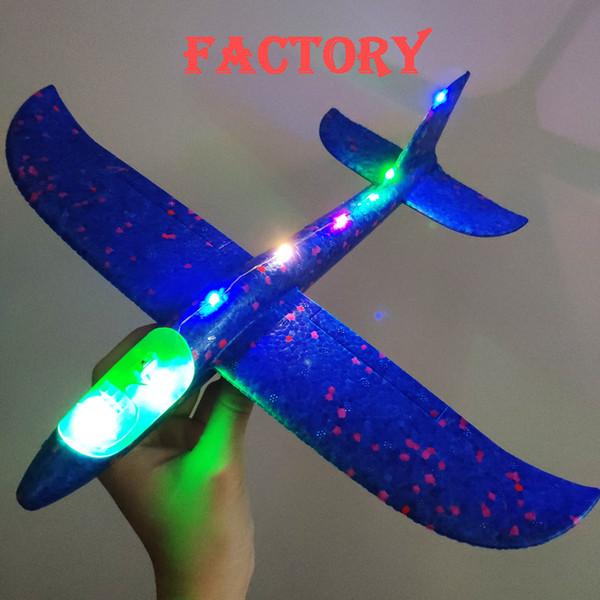 2018 diy kinderspielzeug hand werfen fliegen segelflugzeug flugzeuge schaum flugzeug modell partei tasche füllstoffe fliegen segelflugzeug spielzeug für kinder spiel