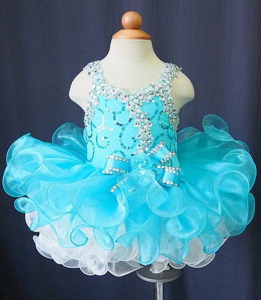 Details about Flower Girls Dress Toddler Infant Cupcake Pageant Birthday Party Blue Mini Dress