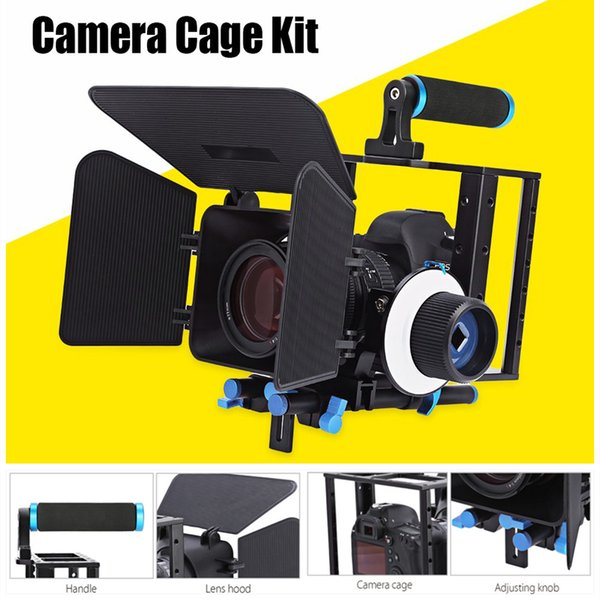wholesale Aluminum Alloy Movie Video Follow Focus Kit With Matte Box For DSLR Camera Camcorder Follow Case Matte Box Camera Cage