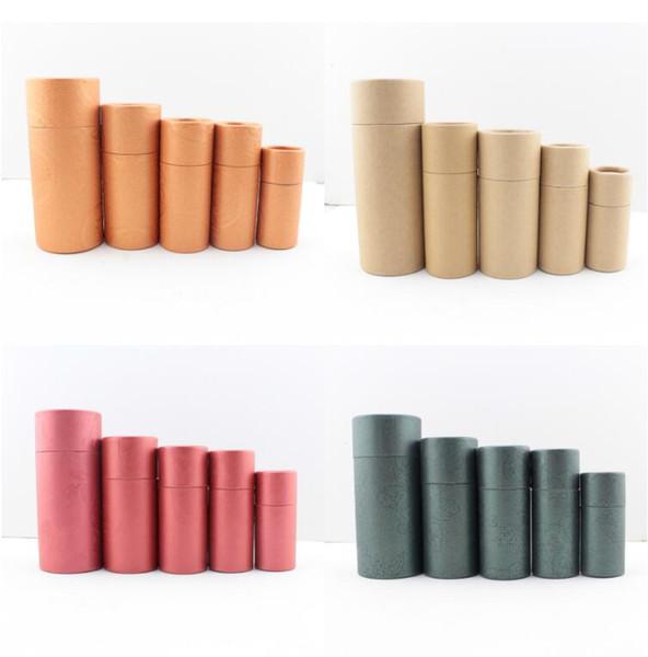 10 ml, 20 ml 30 ml 50 ml Yağ şişesi ambalaj hediye kutusu kağıt tüp ambalaj kutusu kağıt tüp kapaklı yuvarlak karton
