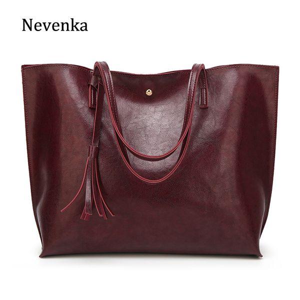 Shoulder Nevenka Women Large Totes Leather Handbags Female Vintage Tote Bag Ladies Big Shopping Bags Ladies Hand Bags for Women 2018Totes