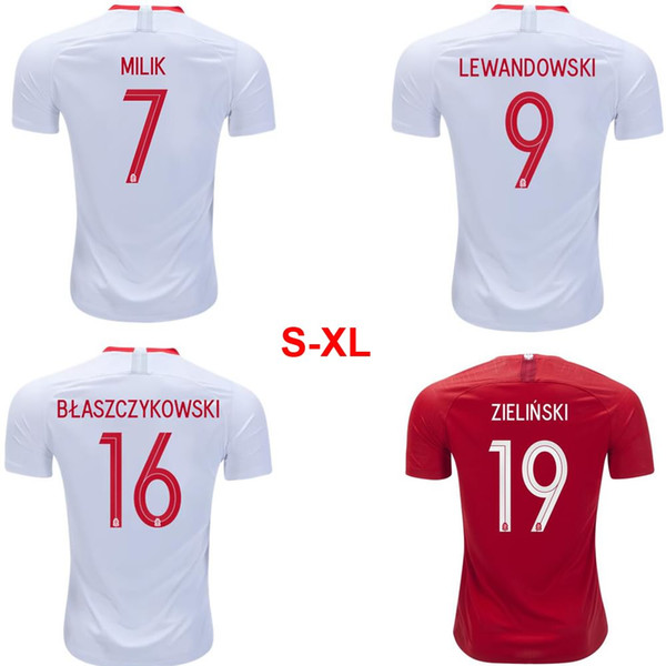 size 40 2cc90 92ad0 2018 2018 National Team World Cup Poland Home Away Jersey Lewandowski  Camisetas Football Uniform From Nikki_lee, $21.01 | Dhgate.Com