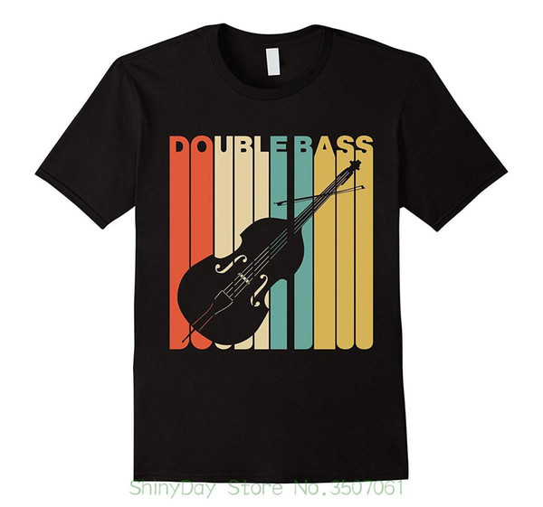Casual Plus Size T-shirts Hip Hop Style Tops Tee S-2xl Vintage Style Double Bass Silhouette T-shirt