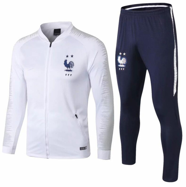 2019 French two-star jacket 2018 2019 POGBA GRIEZMANN football jogging france new long blue sleeve soccer tracksuit training track suit