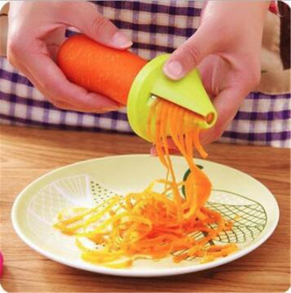 Handheld Vegetable Cutter Spiralizer Spiral Graters Rotary Gadgets Vegetable Shredders Cutter Cucumber Carrot Grater Kitchen Accessories