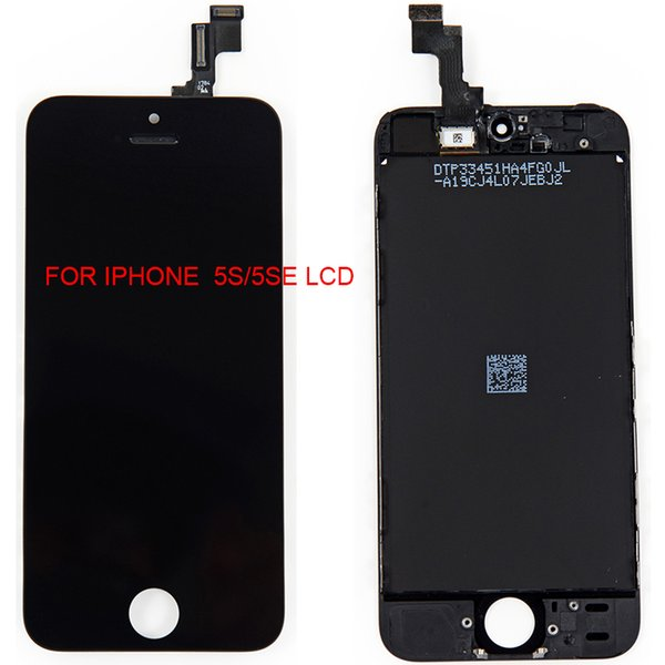 BEST LCD Display with home button + front camera touch screen digitizer full complete assembly replacements for iphone 5/5c/5s free shipping