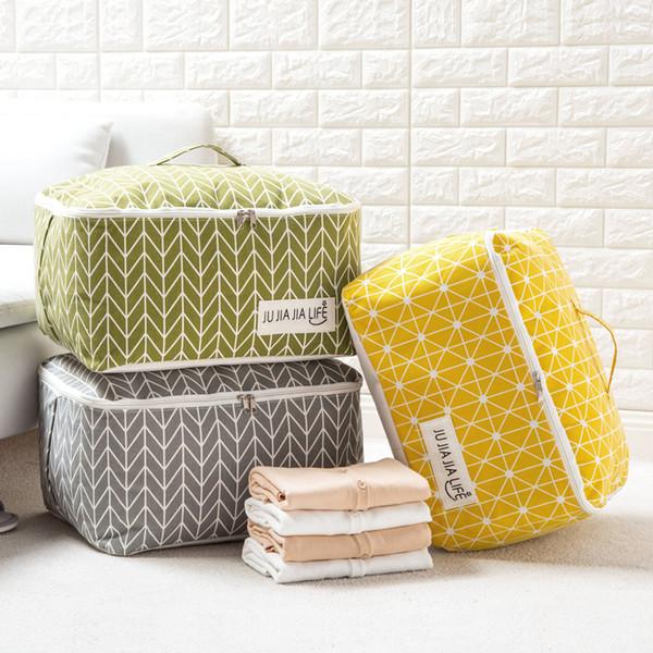 Cotton Cover Storage Pocket Bedquilt Storage Bag Dust-proof Clothes Carpet Pillow Storage Bag
