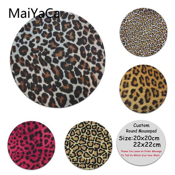 MaiYaCa de calidad superior con estampado de leopardo, almohadilla de silicona para juego de ratón, antideslizante, computadora portátil, PC redonda, almohadilla de ratón, alfombrilla de ratón