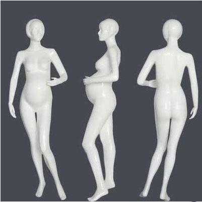 Fashionable Fiberglass Female Mannequin Pregnant mannequin For Pregnant Clothes Display