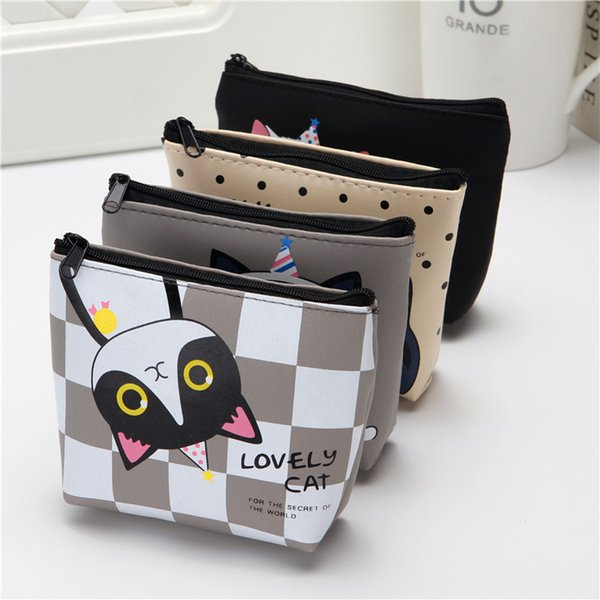 Korean cute creative zero wallet kitty silicone key bag cartoon girl student hand small wallet