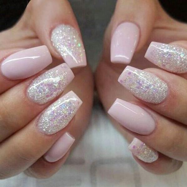 500 unids Moda Uñas Falsas Presione En Las Niñas Dedo Belleza Uñas Falsas Plástico Nail Art Tips Cubierta Completa Falso Francés Art Tips #