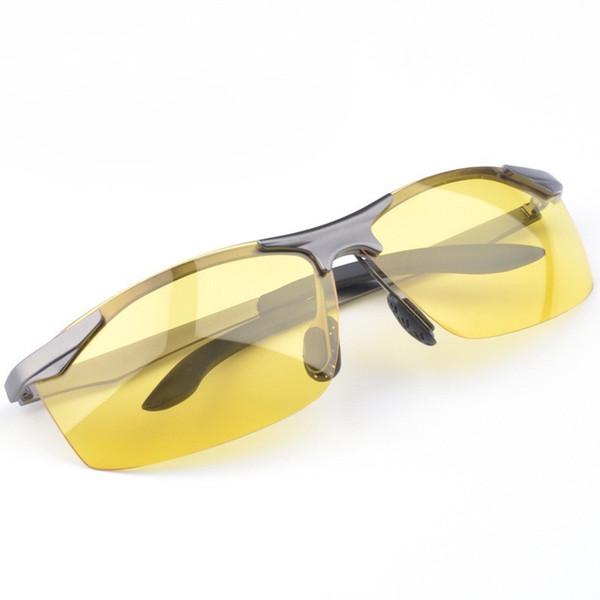 Occhiali per la visione notturna per gli uomini Driver per auto Occhiali da sole polarizzati Shock Proof Guida lenitiva e riduzione dell'occhio Eyewear Durable 23fs BB