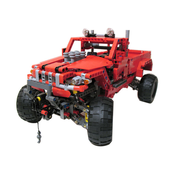 Technology machinery assembly model assembling building blocks mountain off-road pickup truck two modes boy educational toys