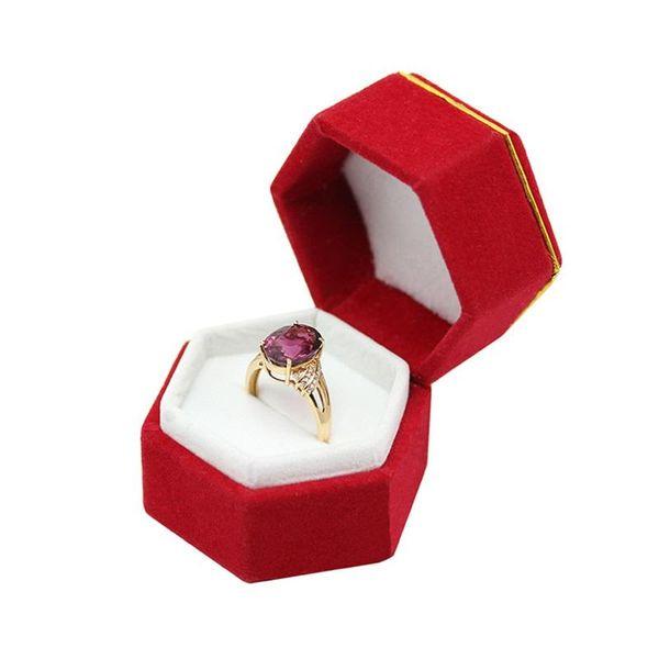 Шесть углов маленькое кольцо уха шпильки коробка ювелирных изделий украшения ящики для хранения брелок чистый красочный упаковка чехол 2 5lz ФФ