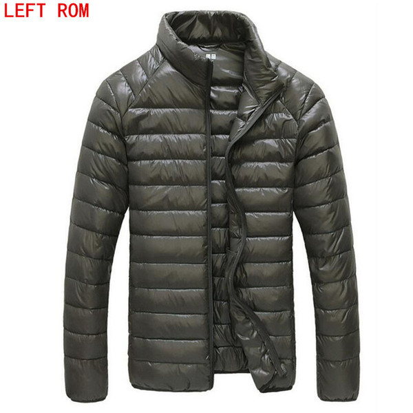 2019 2017 Autumn Winter Duck Down Jacket Ultra light Men 90% Coat Waterproof Down Parkas Fashion mens collar Outerwear coat Size 5XL