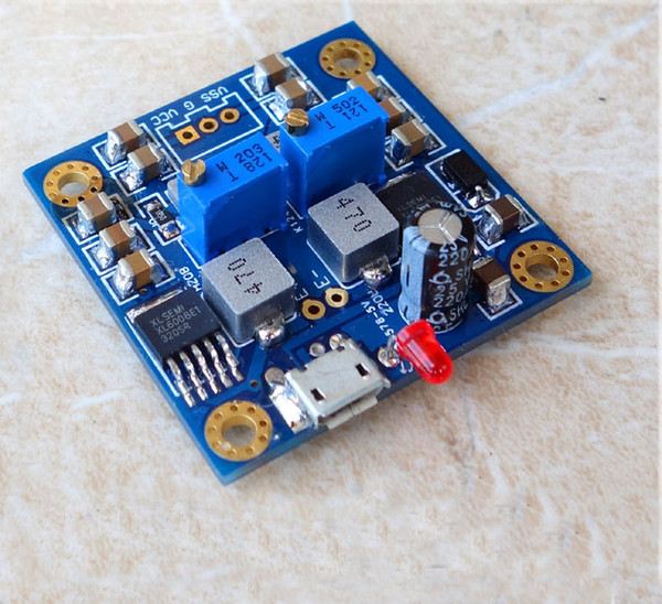 Freeshipping HIFI Low Noise Single Voltage To Positive Negative Regulated Power Supply Module Usb Interface or DC 8-18V 12v