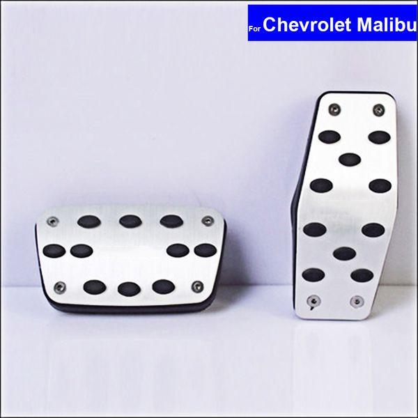 Car Aluminium Alloy Petrol Clutch Fuel Brake Braking Pad Foot Pedals Rest Plate for Chevrolet Trax Cavalier Malibu Auto Pedals