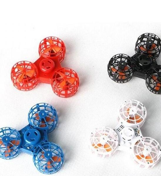 Outdoor Spielzeug Luft Rotierenden Gyro Lustige Fingerspitze Spielzeug Zurück Rotation Wiederaufladbare Flying Fidget Spinner Venting Dekompressionsspielzeug TL 001
