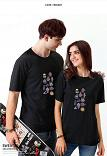 New style Men's & Woman's T-Shirts Summer Dresses Circular Collar Cartoon Printing Casual Clothes Personality Sweethearts Rendering