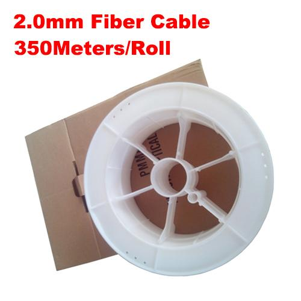 2.0mm diameter 350m/roll PMMA fiber optic cable end glow for decoration lighting led fiber lights
