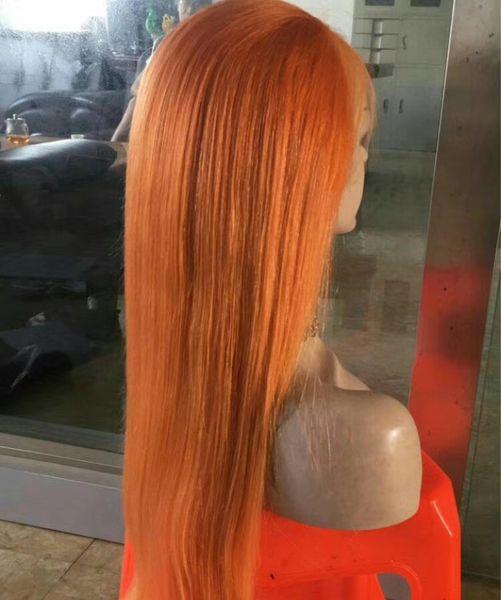 Perruques de cheveux humains brésiliens vierges naturelles style de cheveux droits produit rouge-rose blond 99j couleur 150% perruques avant de dentelle desnity