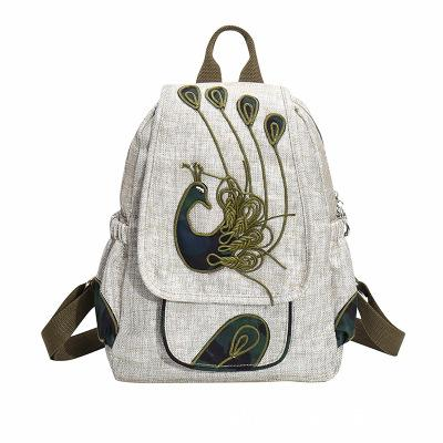 Fashion String Appliques Women Cover Backpacks!Nice Animal Printed Appliques Classic Lady Hasp Backrack Vintage Canvas backpack