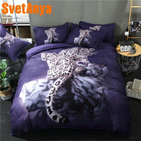Svetanya 3D Animal Leopard Printed Bedding Set (1pc Duvet Cover +2pc Pillowcase) US AU Multi-Size Bedlinen