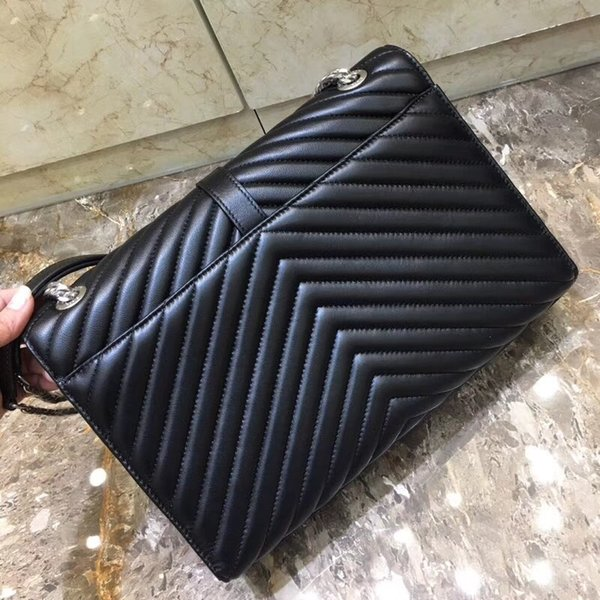 2018 New designer calfskin luxury bag women genuine leather chain shoulder bag 7A top quality lady fashion sl pbag 31cm DHL free shipping