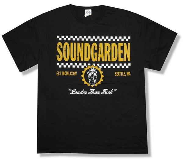 Soundgarden Checkers Spring Tour 2013 Camiseta negra Nueva marca de moda para hombre Louder Adulto 2018