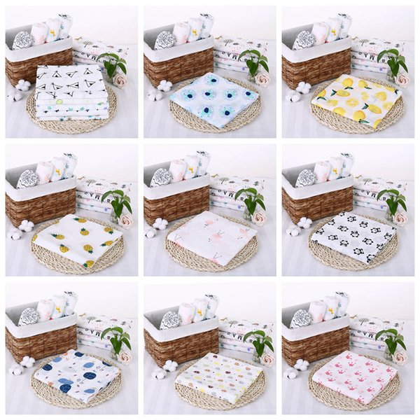 Newborn Baby Blankets Infant Swaddles Baby Fox Bath Towel Baby Stoller Cover Toddler Designer Bed Cribs Cover Newborn Nursery Bedding YL65-6