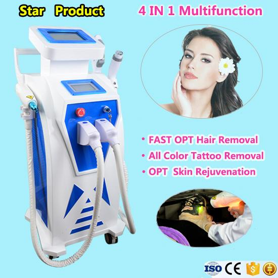 Free shipping IPL skin rejuvenation laser machine acne spot freckle vascular removal wrinkle removal machine clinic salon use tattoo removal