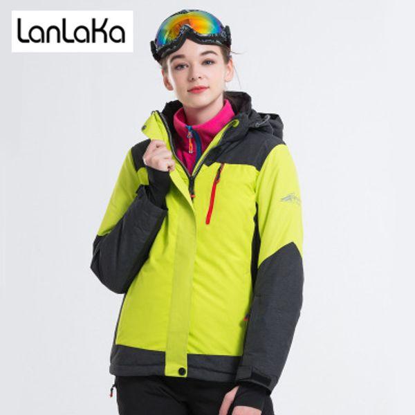 LANLAKA New Brand Women Ski Jacket High Quality Winter Jacket Arrival Women Ski Suit Warm Skiing Snow Coat jackets Female
