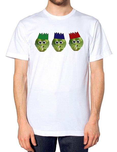Sprout Cracker Hat T Shirt Drôle Festive Top Dîner De Noël Idée Présent Fart Été À Manches Courtes Coton