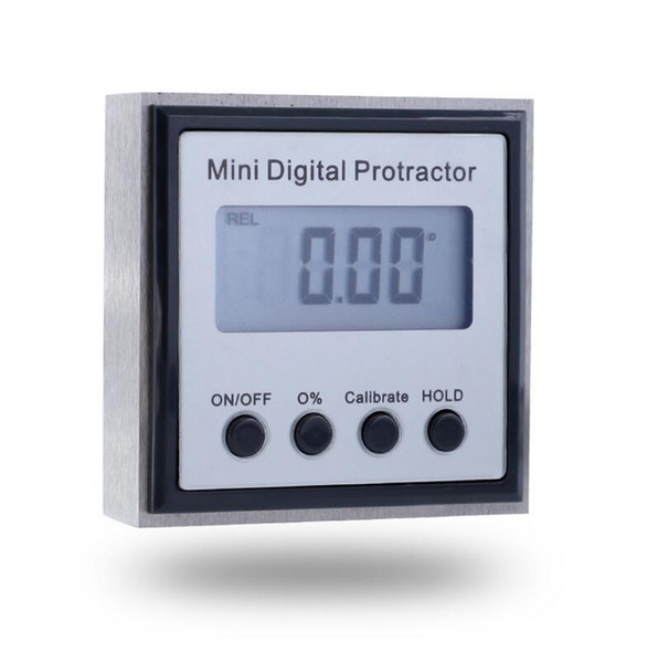 top popular Metal digital inclinometer stainless steel angle measuring instrument with magnetic digital display angle ruler 4x90 metric angle 2021