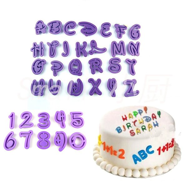 40pcs Alphabet Number/Letter Icing Cutter Mold set Fondant Cake Decorating tool Cookie Chocolate Moulds Kitchen Accessories