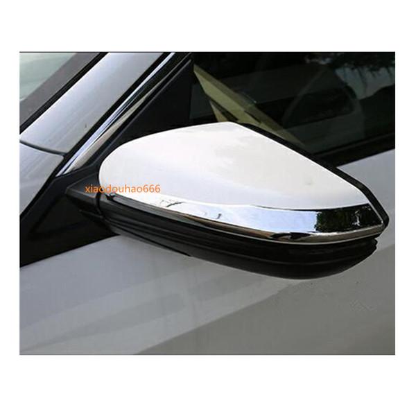Coche ABS cromo Parte posterior del cuerpo Vista posterior Espejo retrovisor pegatina tira Peinetas capuchas accesorio 2pcs Para Honda Civic 10mo sedán 2016 2017 2018