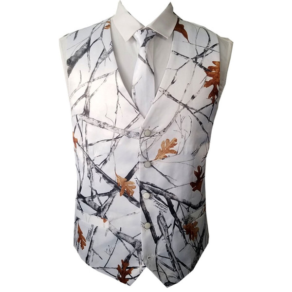 white camouflage vests for wedding groom wear camo prom vests custom make free shipping