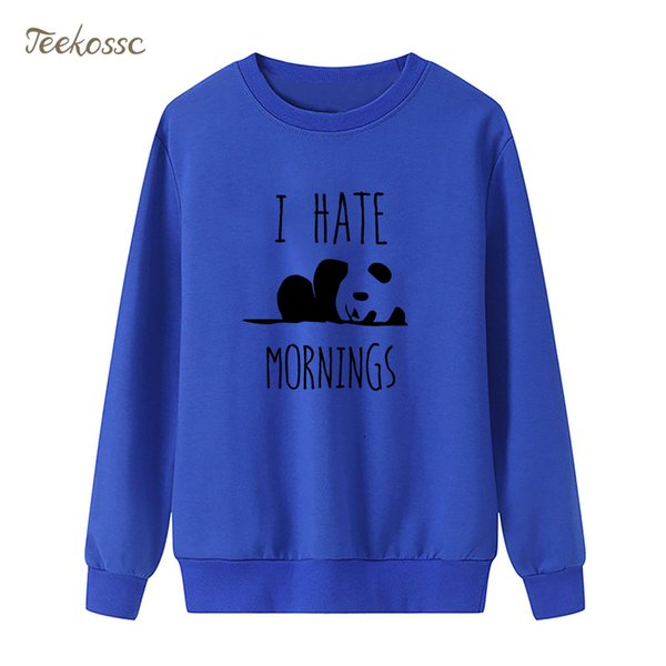 Großhandel HASS MORGEN Panda Sweatshirt Nette Hoodie Winter Herbst Frauen Lasdies Pullover Lose Vlies Hippie Streeetwear Marken Kleidung Von Yigu110,